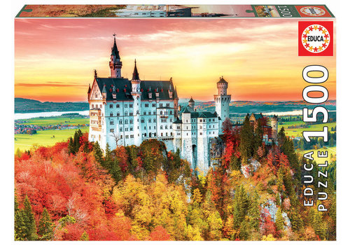 Educa Herfst in Neuschwanstein - 1500 stukjes