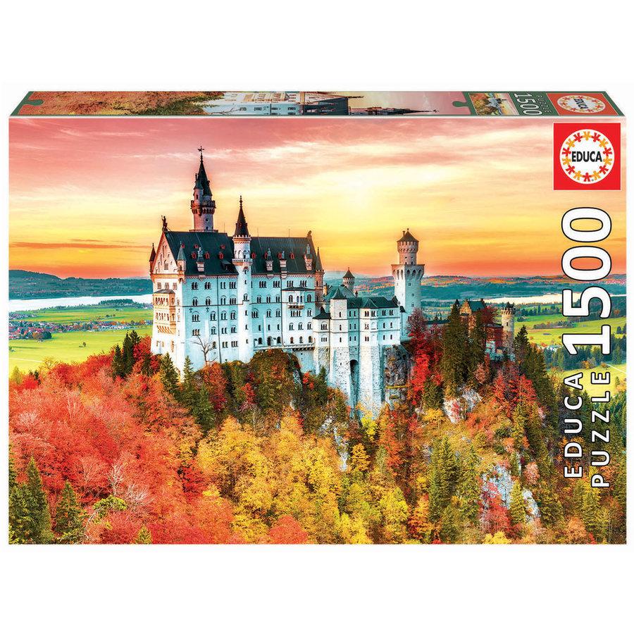 Herfst in Neuschwanstein  - legpuzzel van 1500 stukjes-1
