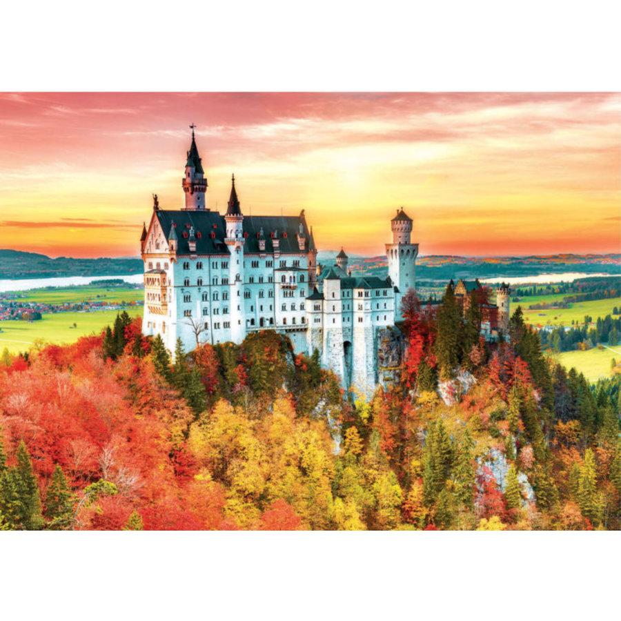 Herfst in Neuschwanstein  - legpuzzel van 1500 stukjes-2