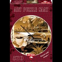 thumb-Puzzle Horloge - Heure du café - puzzle et horloge de 570 pièces-2