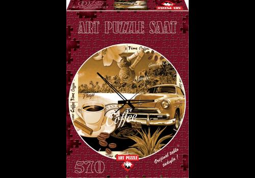 Art Puzzle Puzzelklok - Tijd voor Koffie - 570 stukjes