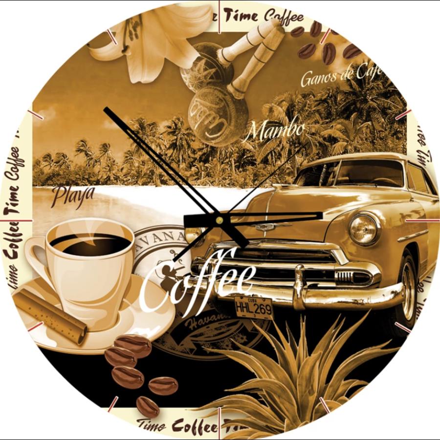 Puzzle Horloge - Heure du café - puzzle et horloge de 570 pièces-1