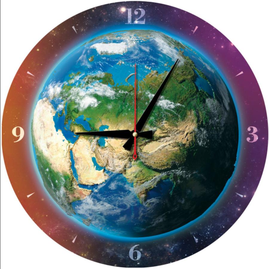 Puzzle Horloge - Monde du temps - puzzle et horloge de 570 pièces-1