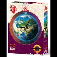 thumb-Puzzle Horloge - Monde du temps - puzzle et horloge de 570 pièces-2