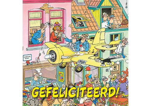 Comello  VIP Jan van Haasteren Wenskaart - Gefeliciteerd!
