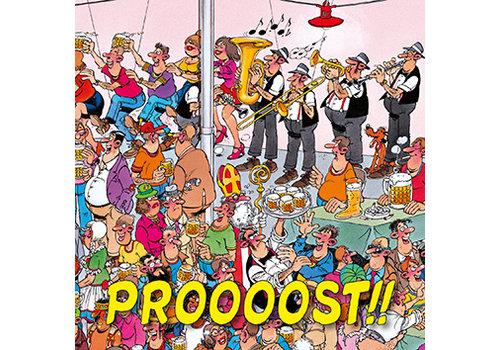 Comello  VIP Jan van Haasteren Wenskaart - Proost!