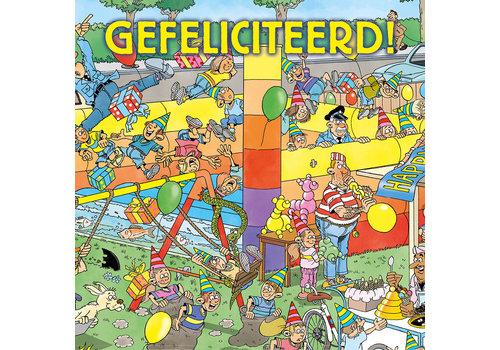 Comello  VIP Jan van Haasteren Wenskaart - Gefeliciteerd!!