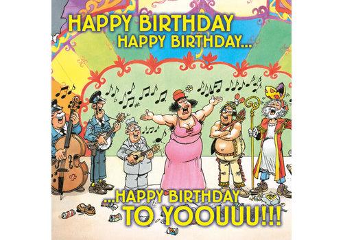 Comello  VIP Jan van Haasteren Wenskaart - Happy Birthday to you!