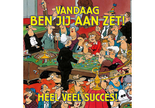 Comello  VIP Jan van Haasteren Carte de Voeux - Heel veel Succes!