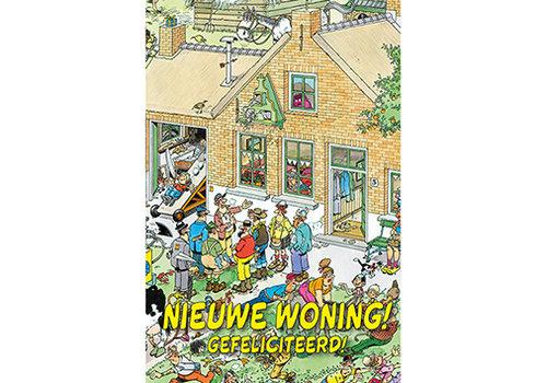 Comello  VIP Jan van Haasteren Wenskaart - Nieuwe woning! Gefeliciteerd!