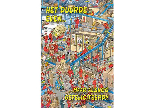 Comello  VIP Jan van Haasteren Wenskaart - Het duurde even...