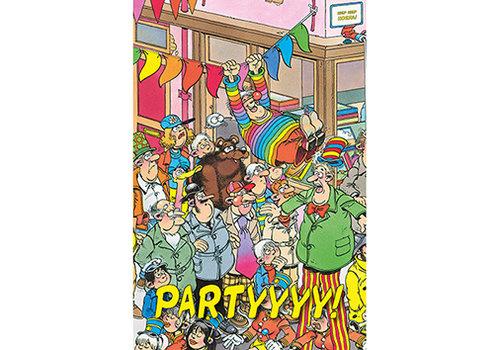 Comello  VIP Jan van Haasteren Wenskaart - Partyyyyy!