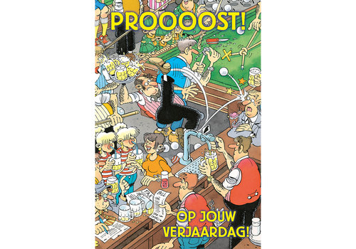 Comello  VIP Jan van Haasteren Greeting Card - Proost!!!