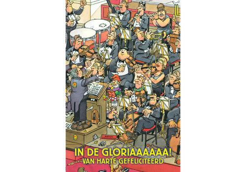 Comello  VIP Jan van Haasteren Greeting Card - In de Gloriaaa!