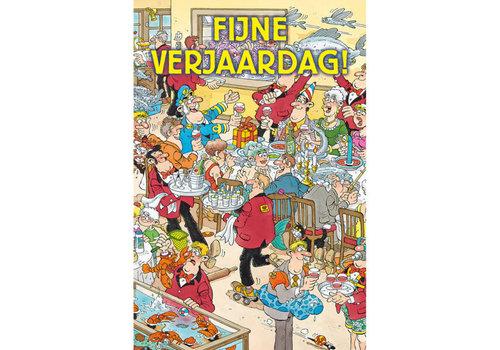 Comello  VIP Jan van Haasteren Greeting Card - Fijne Verjaardag!