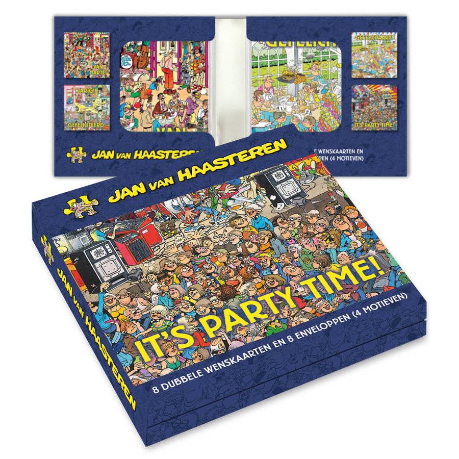 Jan van Haasteren Chemise de Cartes de Voeux - It's Party Time!-1