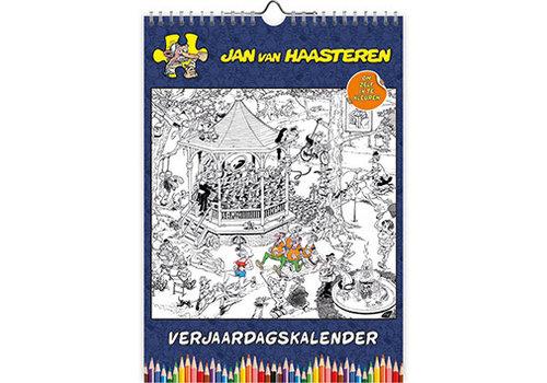 Comello  Jan van Haasteren - Plaques de couleur Calendrier d'anniversaire - A4