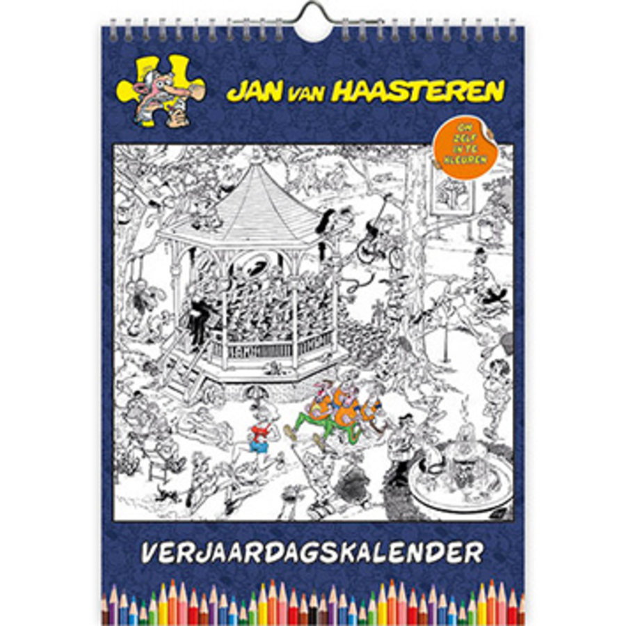 Jan van Haasteren - Kleurplaten Verjaardagskalender - A4-1