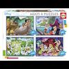 Educa Disney Klassiekers - 4 puzzels van 50 / 80 / 100 / 150 stukjes