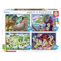 thumb-Disney Klassiekers - 4 puzzels van 50 / 80 / 100 / 150 stukjes-1