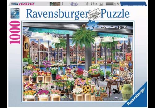 Ravensburger Bloemenmarkt in Amsterdam - 1000 stukjes