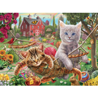 Les chats dans le hamac - puzzle de 300 XXL pièces