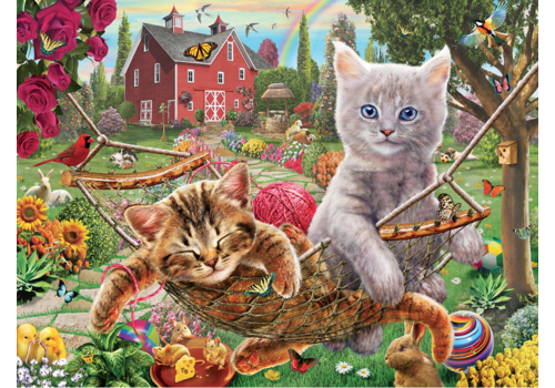 SUNSOUT Cats in the hammock - 300 XXL pieces