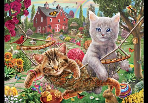 SUNSOUT Katten in de hangmat - 300 XXL stukjes