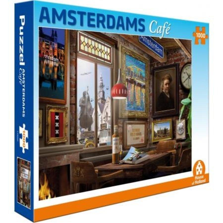 Amsterdams Café - puzzel van 1000 stukjes-1