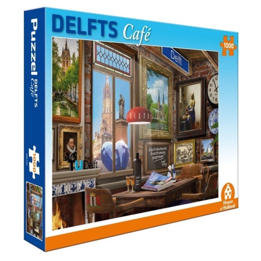 Delfts Café - puzzel van 1000 stukjes-1