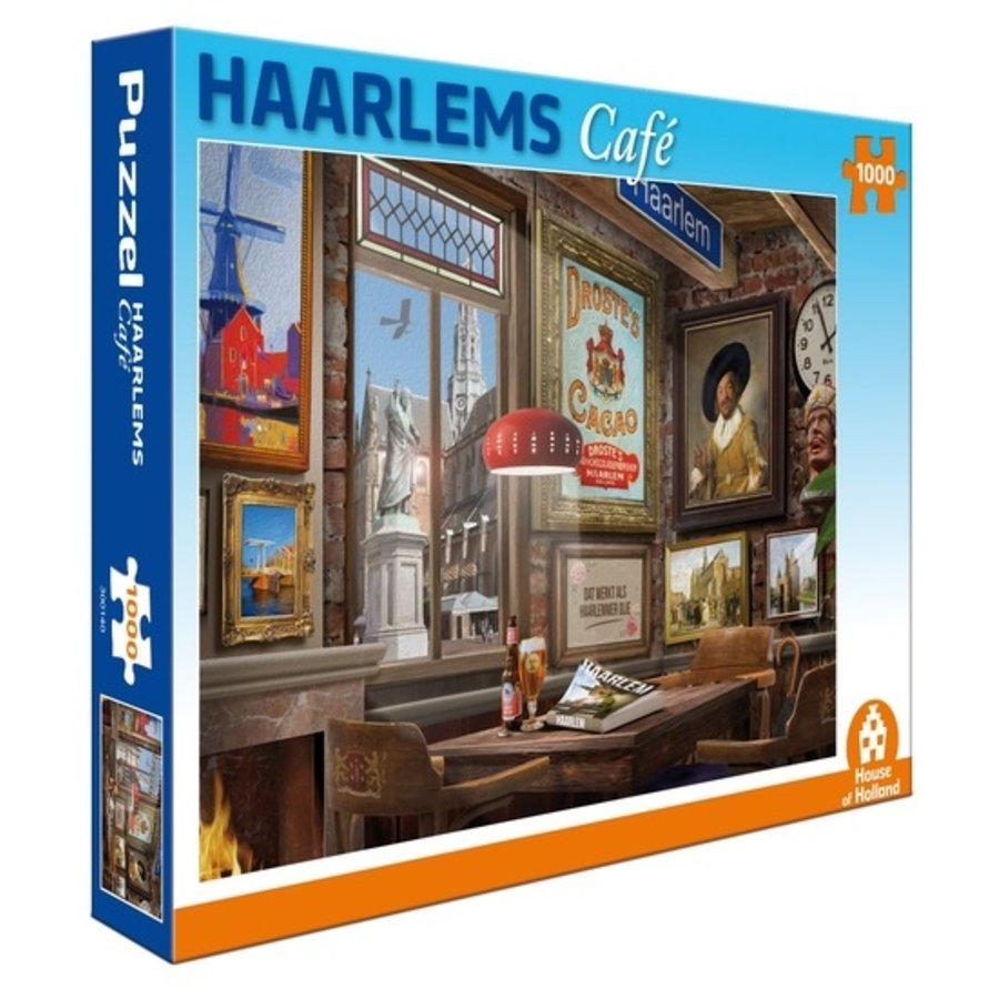 Café à Haarlem - puzzle de 1000 pièces-1