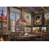 thumb-Café à Haarlem - puzzle de 1000 pièces-2