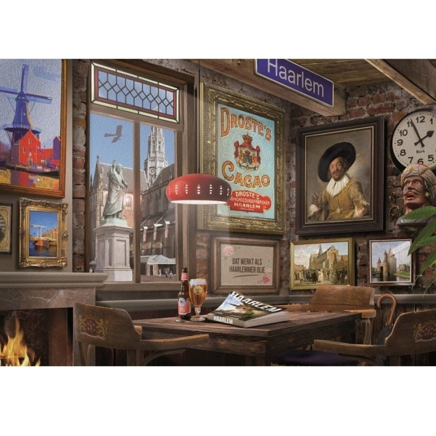 Café à Haarlem - puzzle de 1000 pièces-2