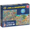 Jumbo The Music Shop / Holiday Jitters - JvH - 2 x 1000 pieces -jigsaw puzzles