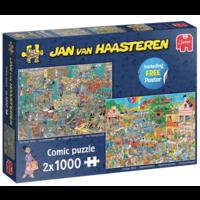 Muziekwinkel / Vakantiekriebels - JvH - 2 puzzels van 1000 stukjes