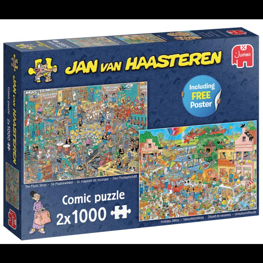Muziekwinkel / Vakantiekriebels - JvH - 2 puzzels van 1000 stukjes-1