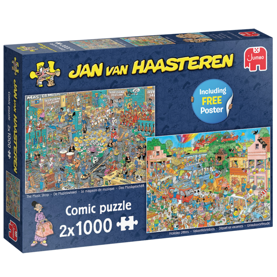 The Music Shop / Holiday Jitters - JvH - 2 x 1000 pieces -jigsaw puzzles-1