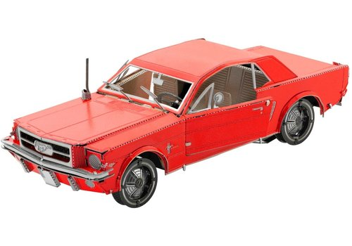 Metal Earth Ford Mustang 1965 Coupé Rood - 3D puzzel