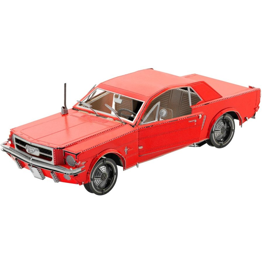 Ford Mustang 1965 Coupé Rood - 3D puzzel-1