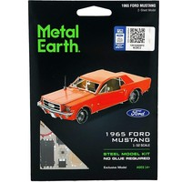 thumb-Ford Mustang 1965 Coupé Rouge - puzzle 3D-2