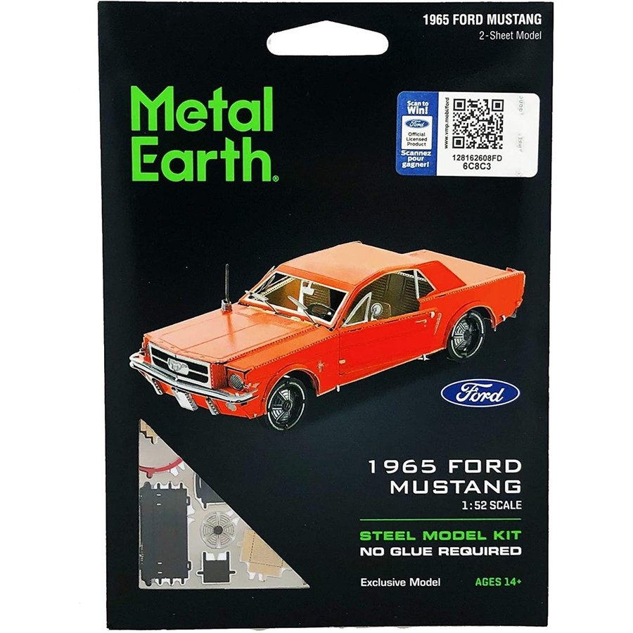 Ford Mustang 1965 Coupé Rouge - puzzle 3D-2