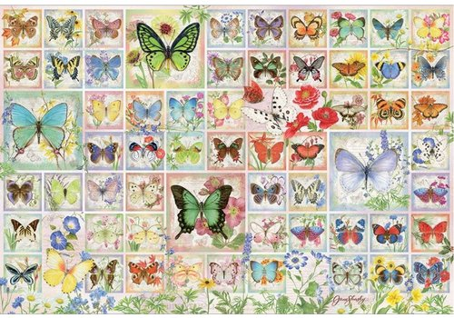 Cobble Hill Papillons et fleurs - 2000 pièces