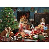 Cobble Hill Kerst Puppies - puzzel van 500 XL stukjes