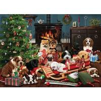thumb-Kerst Puppies - puzzel van 500 XL stukjes-1