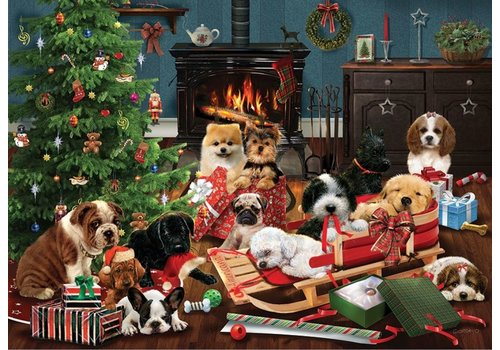Cobble Hill Christmas Puppies - 500 XL pieces