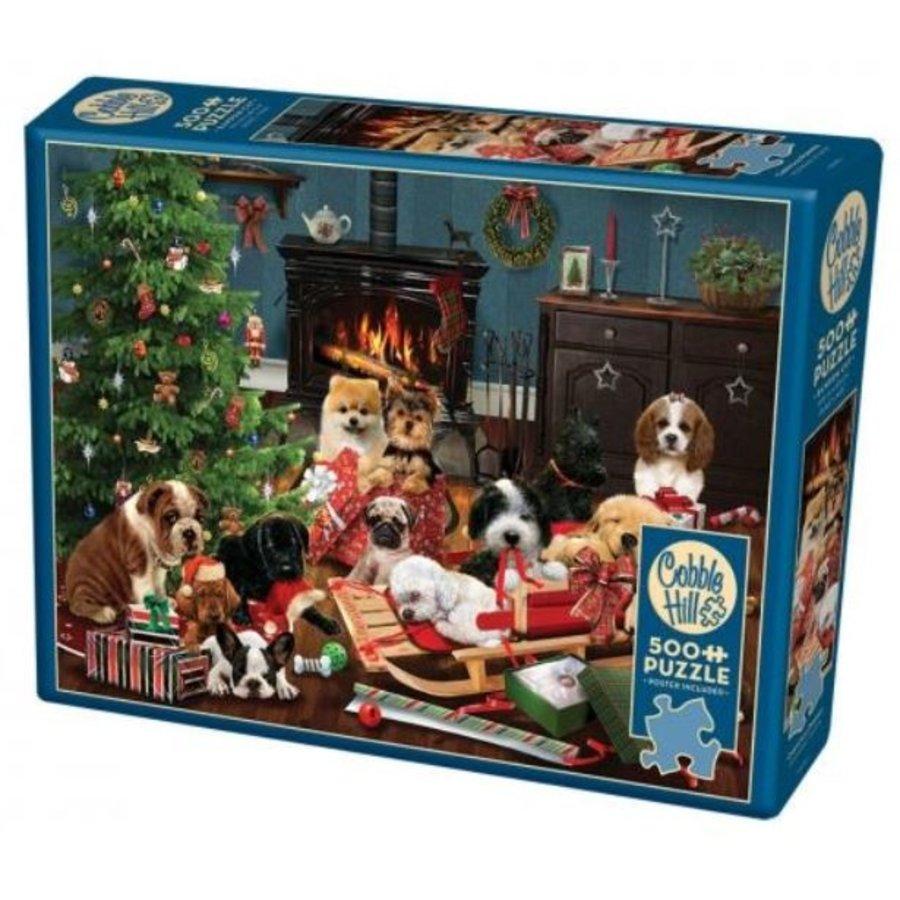 Kerst Puppies - puzzel van 500 XL stukjes-2