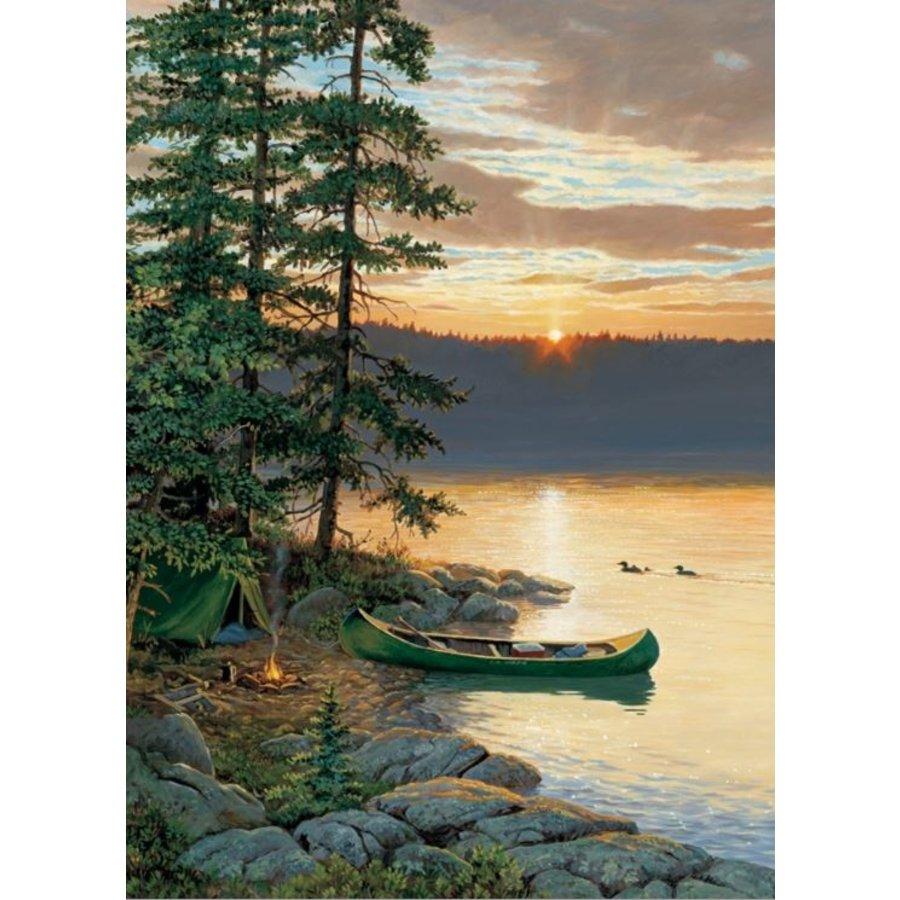 Canoe Lake - puzzel van 500 XL stukjes-1