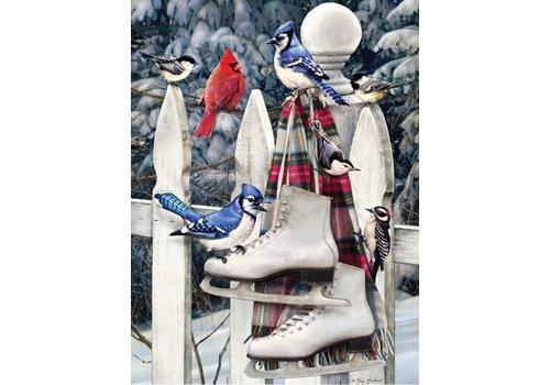 Cobble Hill Vogels met Schaatsen - 500 XL stukjes