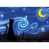 Cobble Hill Mrowwy Night - puzzel van 500 XL stukjes