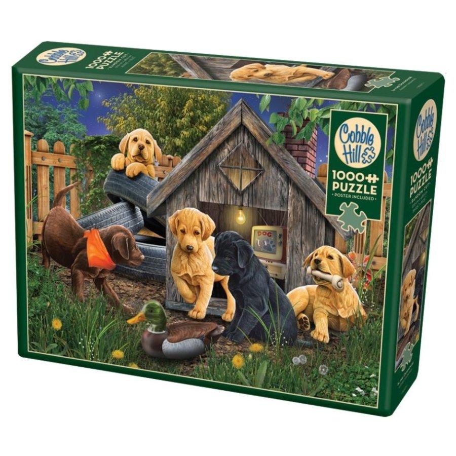 In het Hondenhok - puzzel van 1000 stukjes-2